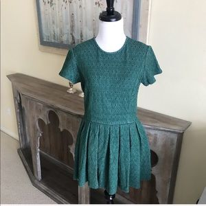 Opening Ceremony Dresses - • Opening Ceremony • Green Pleated Mini Dress